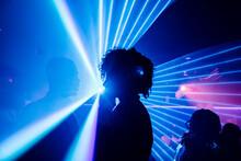 Ethnic Couple Dancing In Nightclub