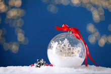 Decorative Snow Globe With Red...