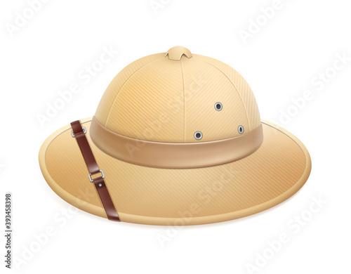 Beige safari hat Billede på lærred