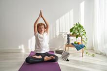 Kid Doing Yoga And Meditation ...