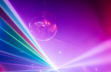 Disco Ball Under Neon Light