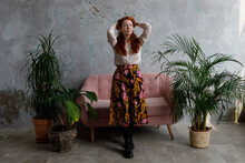 Red Hair Girl In A Room