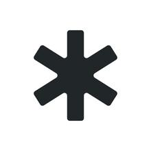 Asterisk, Mark Icon Vector Illustration