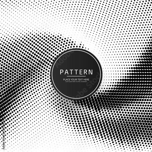 Abstract creative halftone patern design Canvas Print