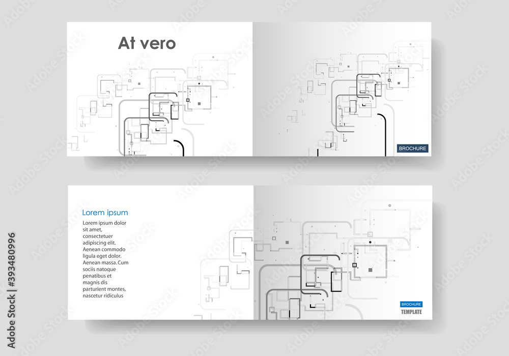 Fototapeta Blank template. Web banner layout. Advertising flyer brochure with connect lines