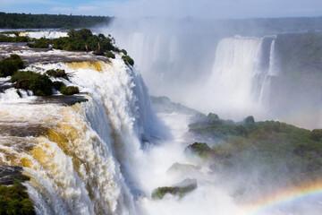 Largest waterfall Cataratas del Iguazu on Iguazu River, Iguazu National Park, Parana, Brazil