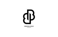 Linked Typography Letter Initial BB Monogram Logotype