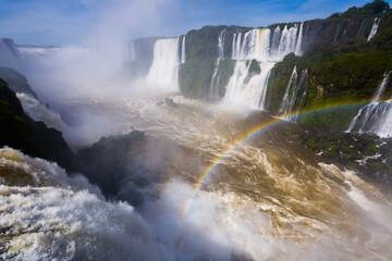 General viewing of the impressive Iguazu Falls system in Brazil