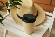 Wooden Chair With Hat, Paper C...