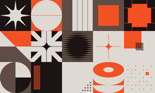 Modern Swiss Design Aesthetics Artwork With Abstract Modernism Shapes And Geometric Pattern Graphics