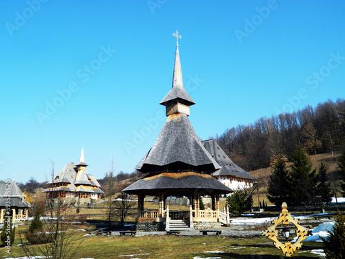 Barsana orthodox monastery from Maramures (Romania) Billede på lærred
