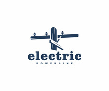 Electric Wooden Pole Logo Desi...