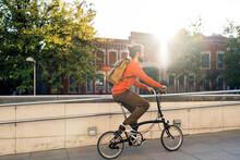 Cool Man Riding Bike