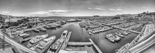 Fotografie, Obraz Aerial view over the Old Harbor, Cannes, Cote d'Azur, France