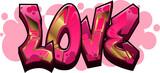 Fototapeta Młodzieżowe - Love Graffiti Name Design