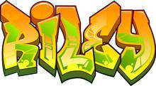 Riley Graffiti Name Design