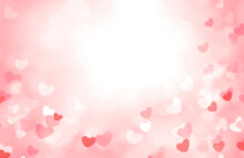 Valentine's Day Background,blurred Hearts Bokeh.Romantic Backdrop.