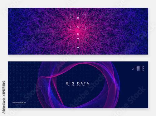 Fototapeta Big data abstract. Digital technology background.  obraz