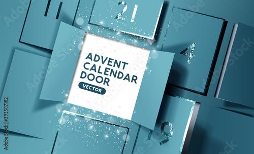 Fotografía Christmas advent calendar door opening to reveal a message