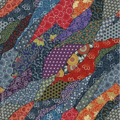 Tapety Japońskie  tradycyjna-japonska-tkanina-patchworkowa-tapeta-abstrakcyjny-wektor-bezszwowy-wzor