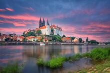 Albrechtsburg - Late Gothic Castle In Meissen, Germany. Long  Exposure Shot