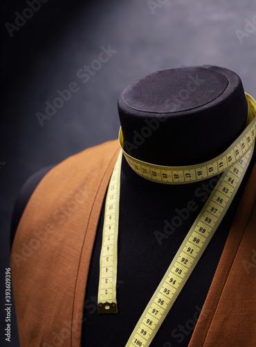 waistcoat on male tailor mannequin Fototapeta