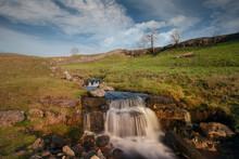 Cascading Waterfalls At Cray Yorkshire