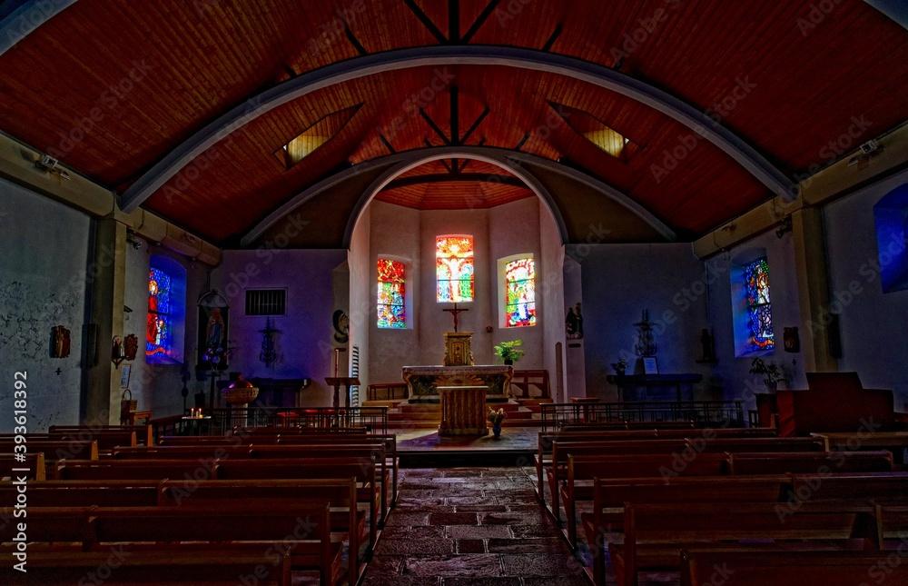 Fototapeta Eglise Saint-Éloi, Roscanvel, Presqu'île de Crozon, Finistère, Bretagne, France