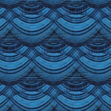 Shades Of Light And Dark Blue Intricate Patterns And Seamless Repeating Designs