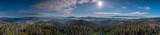 Panorama z góry Gorc - wieża widkowia - na Beskid i Tatry