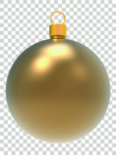 3d Golden Christmas Ball Png