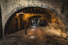 Casco Antiguo Del Pueblo De Angles, En La Provincia De Girona.