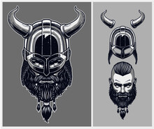 Viking Warrior With Optional Helmet