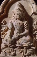 The Buddha - Ceramic Votive Plaque - China, Song Dynasty - Genuine