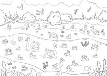Horizontal Coloring Book Page ...
