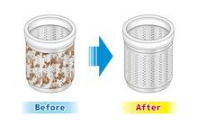洗濯機 洗濯槽 裏側 イラスト 掃除 きれい 汚れ カビ 除菌 洗浄  クリーニング ベクター