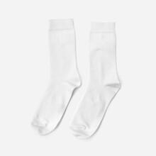 White Socks Isolated Mockup On White Background