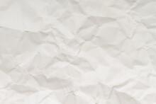 Full Frame Shot Of Crumpled White Paper