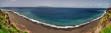 Fonti Di Bila, A Black Sand Beach Stretching For Miles On The Coast Of The Island Of Fogo, Cabo Verde