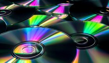 Full Frame Shot Of Multi Colored Compact Disc