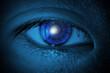 Digital Composite Image Of Cropped Eye
