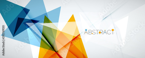Geometric abstract background Fototapet