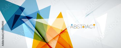 Fotografia Geometric abstract background