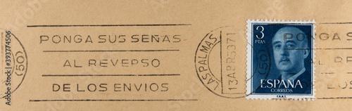 Carta da parati post letter mail stempel slogan spanien vintage retro alt old