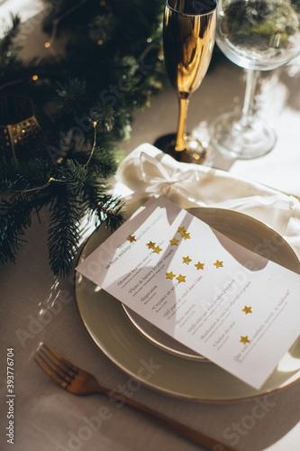 Fényképezés christmas table decoration