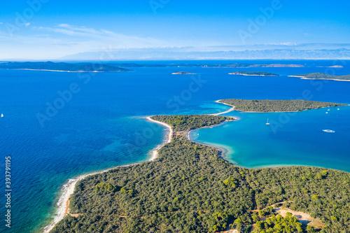 Obraz Amazing seascape, Dugi Otok island in Croatia, aerial view from drone - fototapety do salonu