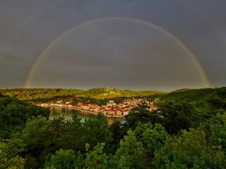 Rainbow over Novigrad.
