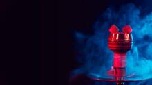 Red Hot Shisha Coals In A Meta...