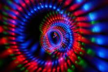 Full Frame Shot Of Illuminated Blue Lights