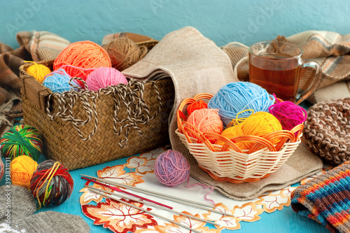 Everything for knitting Fototapet